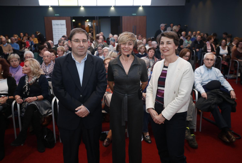 Amador Menéndez, Ana Coto e Isabel Ruiz de la Peña en la última edición del evento